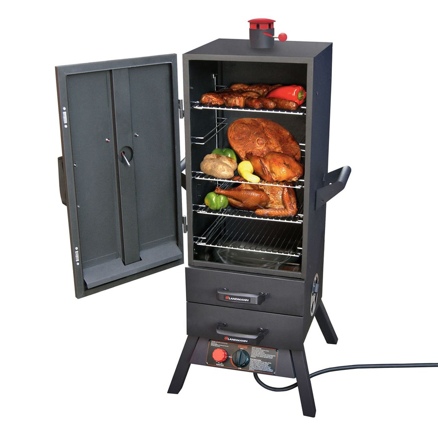 exciting cook stoves at lowes. Landmann USA Smoky Mountain Push and Turn Ignition Gas Vertical Smoker  Common 38 Shop Smokers at Lowes com