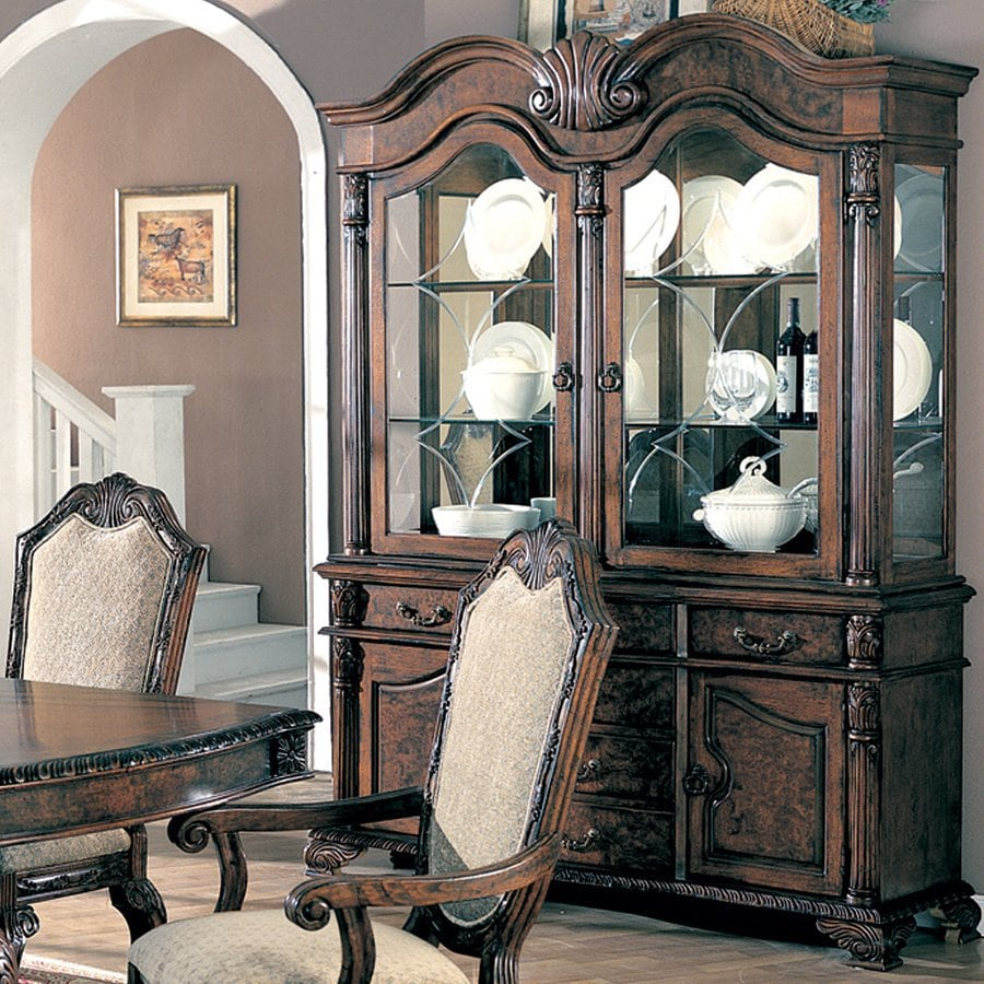 Coaster Fine Furniture Saint Charles Brown Rectangular China Cabinet