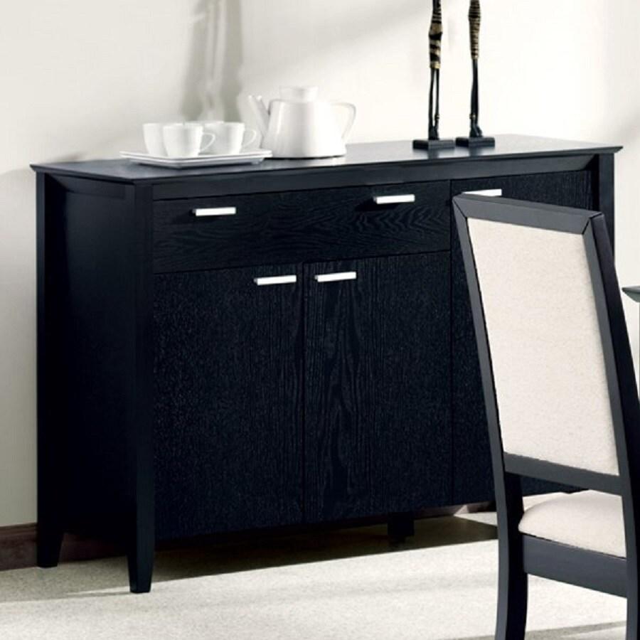 Coaster Fine Furniture Louise Black Rectangular Serving Table