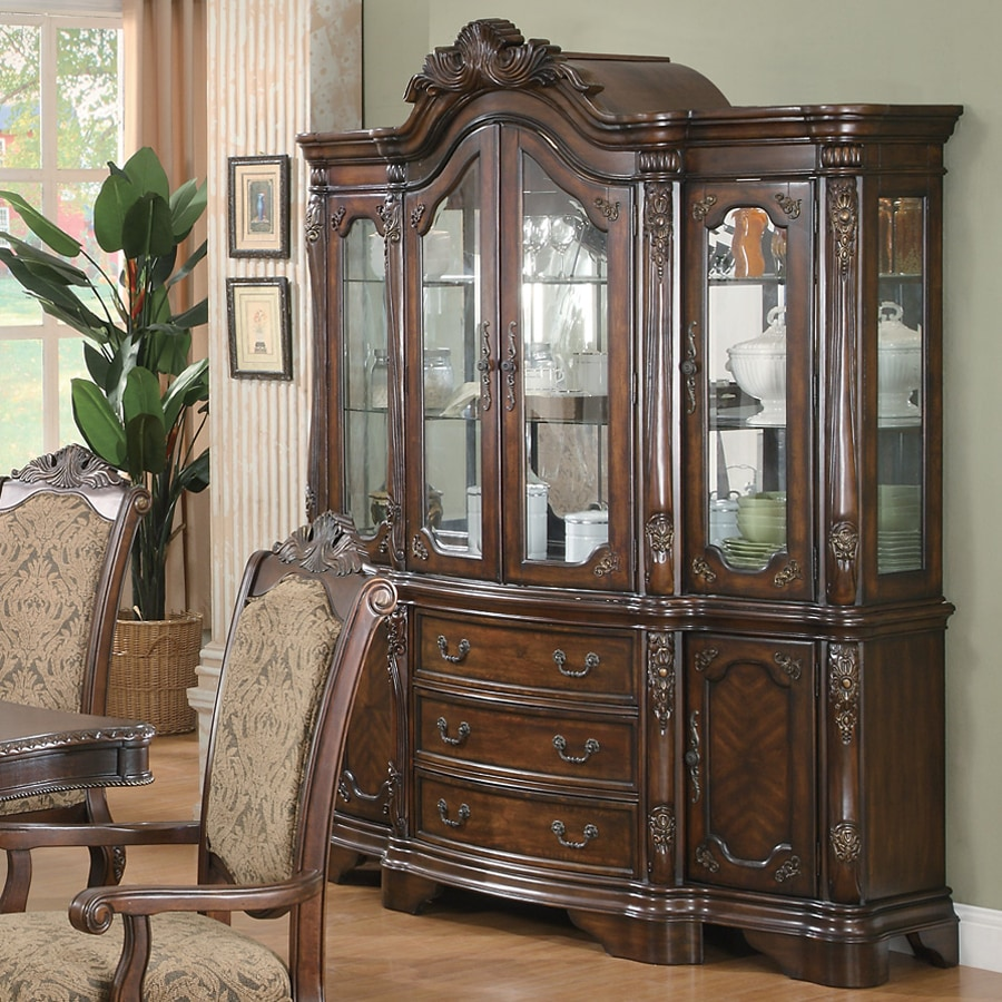 Coaster Fine Furniture Andrea Brown Cherry Rectangular China Cabinet
