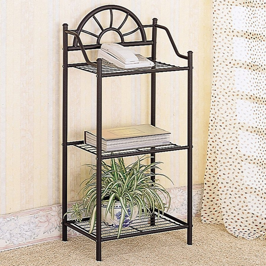 Coaster Fine Furniture Black Metal Etagere