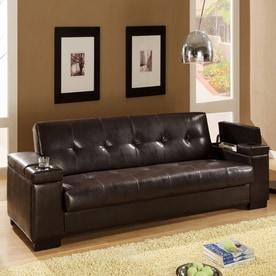 Coaster Fine Furniture Dark Brown Vinyl Sofa Bed