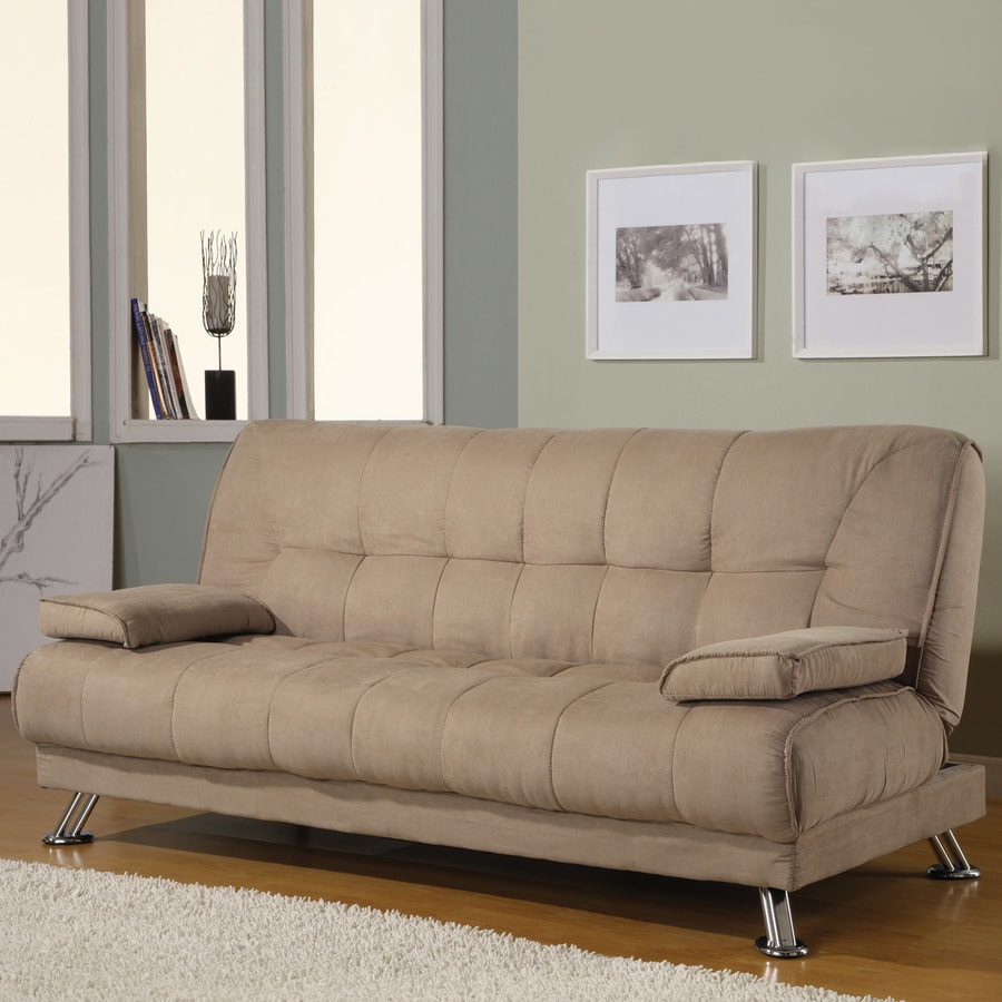 Coaster Fine Furniture Tan Microfiber Futon