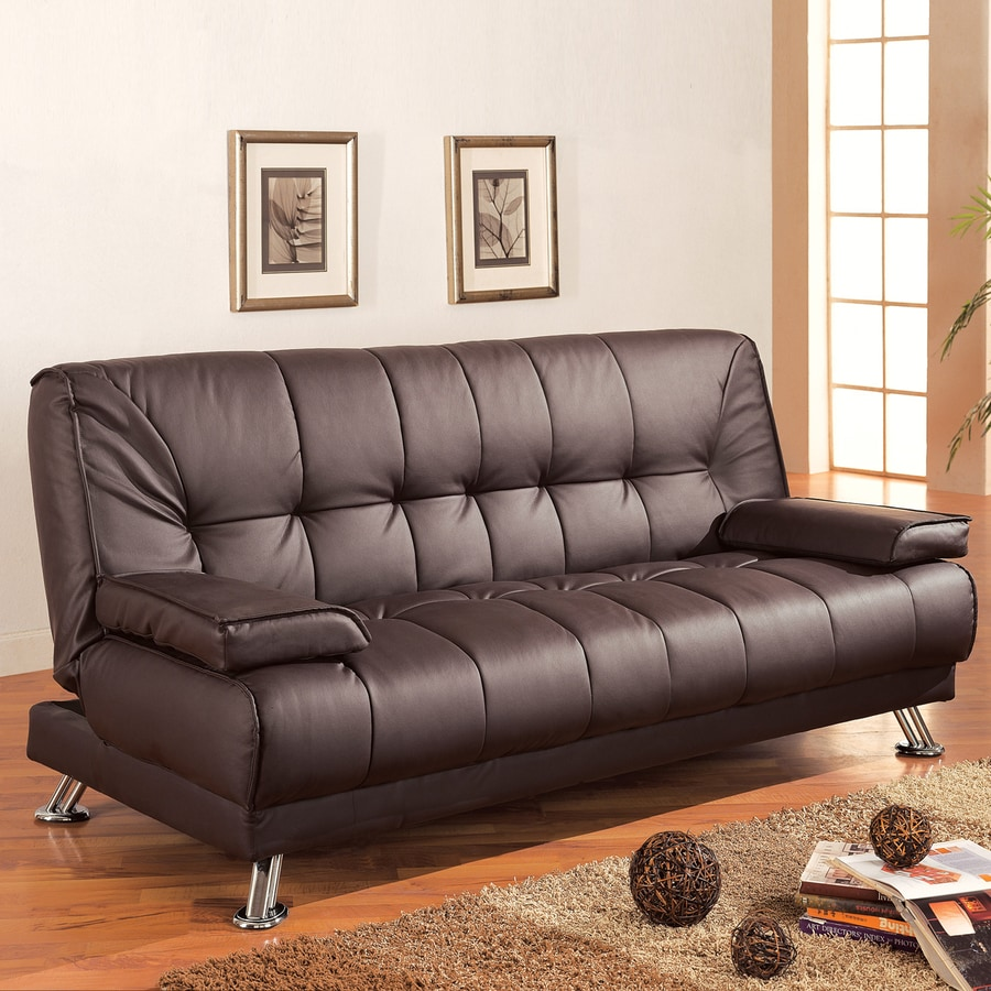 Coaster Fine Furniture Brown Vinyl Futon
