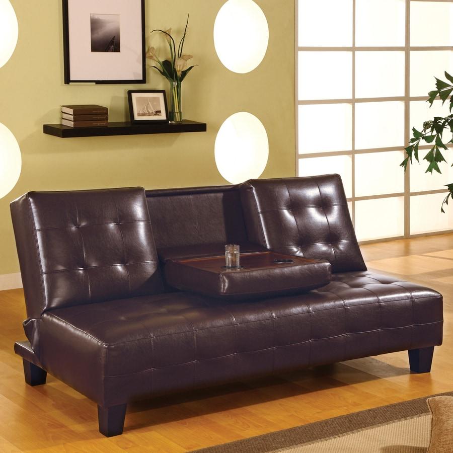 Coaster Fine Furniture Dark Brown Vinyl Futon