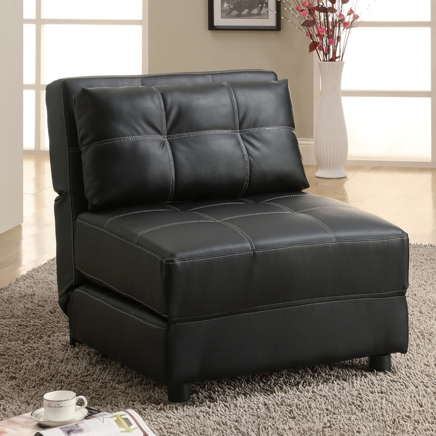 Coaster Fine Furniture Black Faux Leather Accent Chair