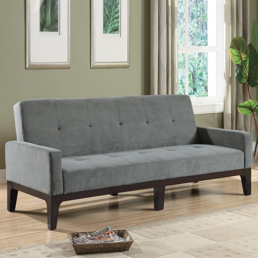 Coaster Fine Furniture Grey Microfiber Futon
