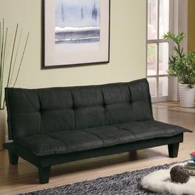Coaster Fine Furniture Dark Grey Microfiber Futon