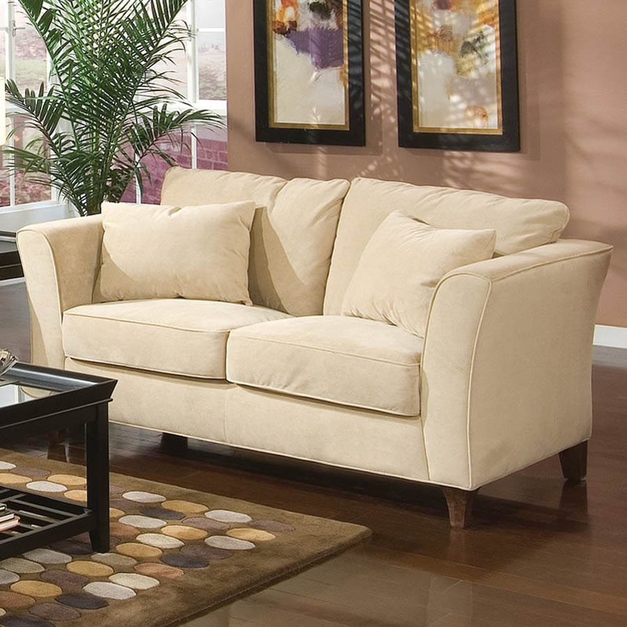 Coaster Fine Furniture Park Place Cream Velvet Loveseat