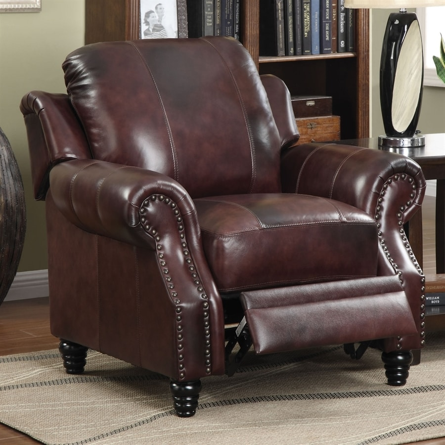 Coaster Fine Furniture Princeton Casual Burgundy Tri Tone Leather Accent  Chair