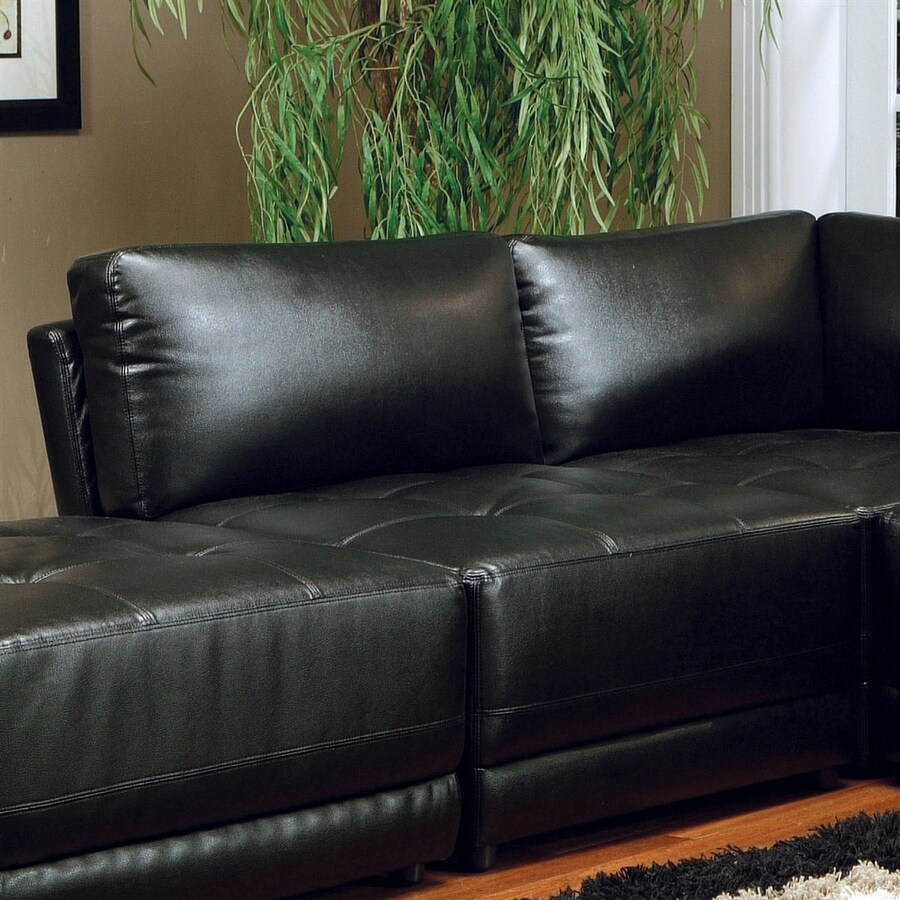 Coaster Fine Furniture Kayson Black Bonded Leather Accent Chair