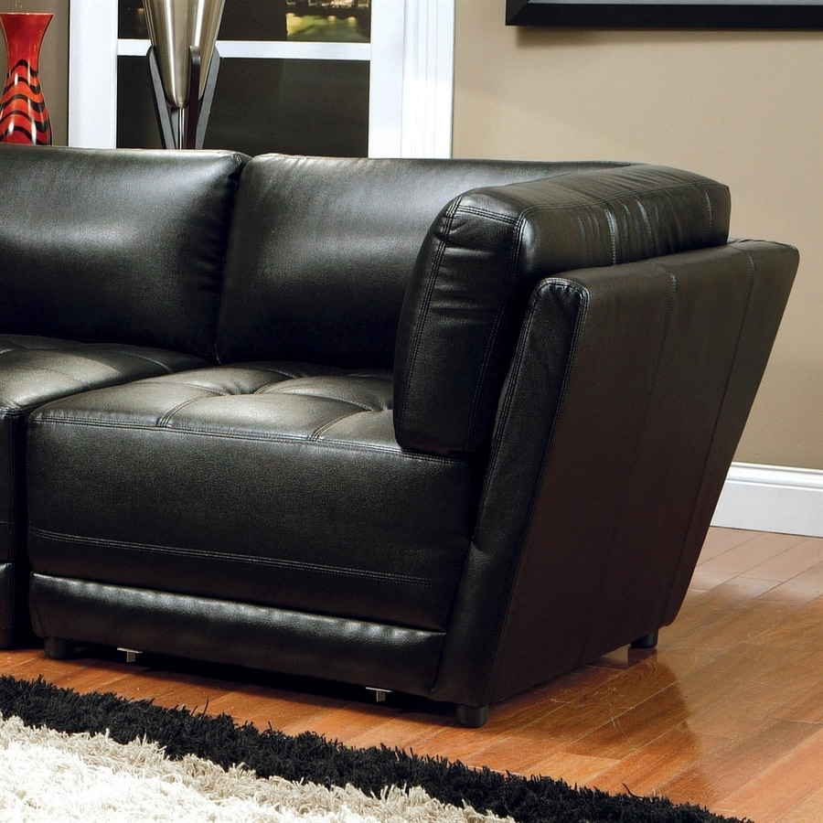 Coaster Fine Furniture Kayson Modern Black Faux Leather Accent Chair