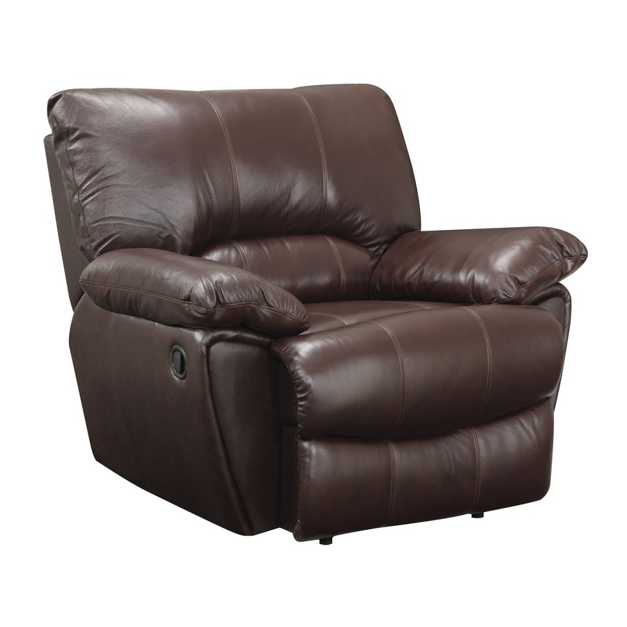 Coaster Fine Furniture Clifford Dark Brown Leather Recliner - Shop Living Room Furniture At Lowes.com