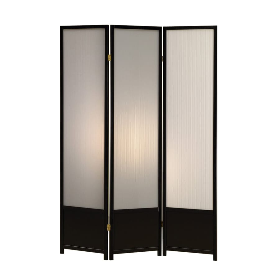 Coaster Fine Furniture 3-Panel Black Polypropylene Folding Indoor Privacy Screen