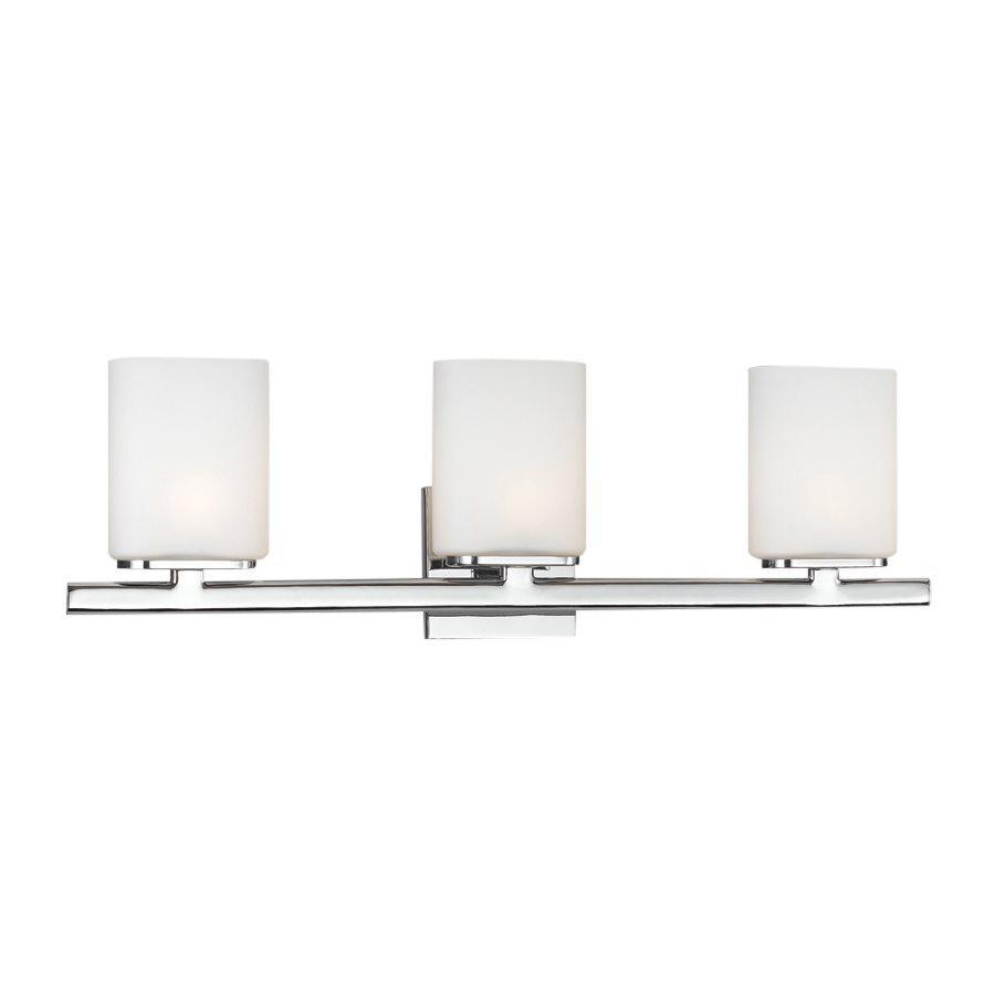 Eurofase Dolante 3-Light 8-in Chrome Cylinder Vanity Light