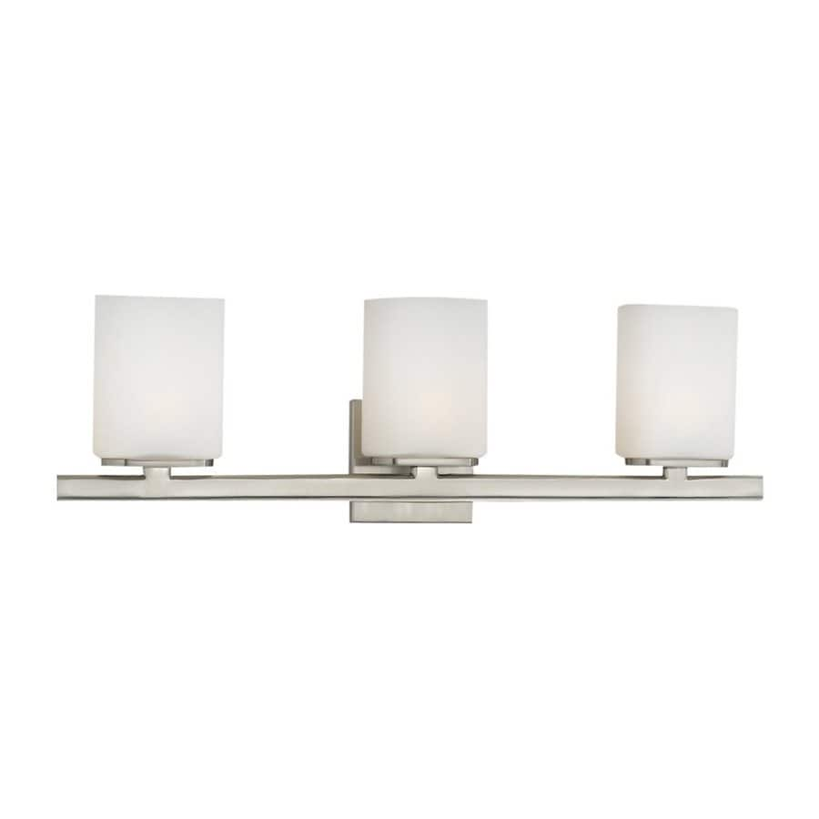 Eurofase Dolante 3-Light 8-in Satin Nickel Cylinder Vanity Light