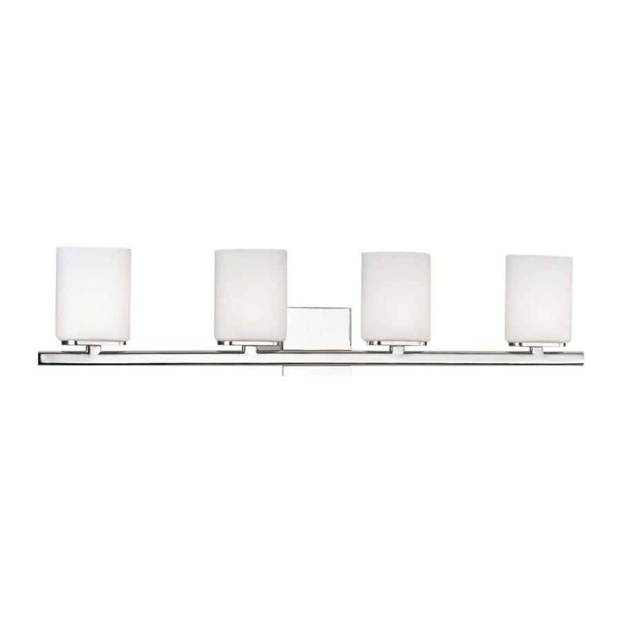 Eurofase Dolante 4-Light 8-in Chrome Cylinder Vanity Light