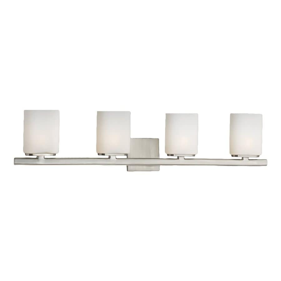Eurofase Dolante 4-Light 8-in Satin Nickel Cylinder Vanity Light