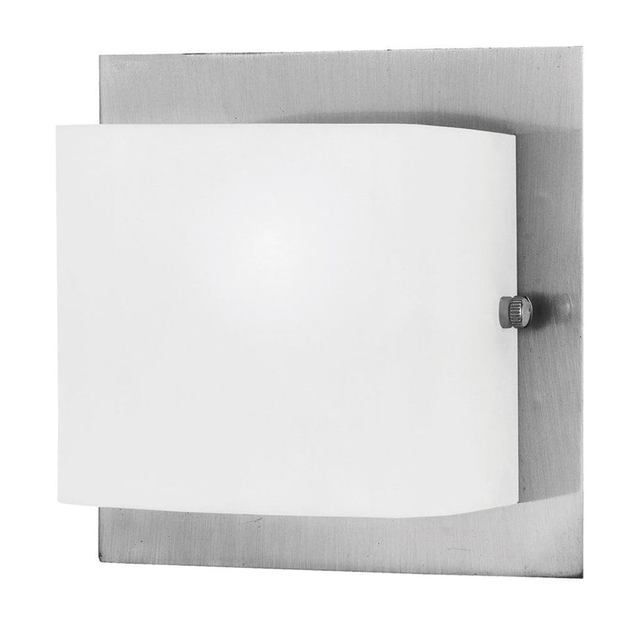 Eurofase Talo 5.13-in W 1-Light Satin Nickel Arm Wall Sconce
