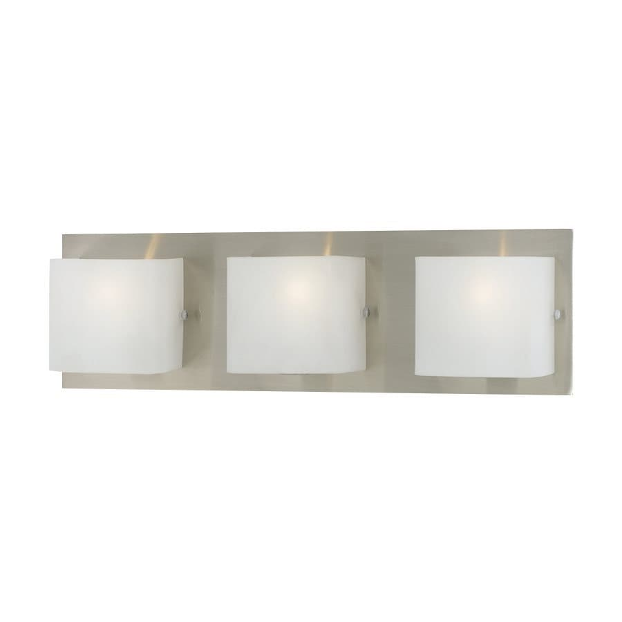 Shop Eurofase Talo 3-Light 5.13-in Satin Nickel Square Vanity Light at Lowes.com