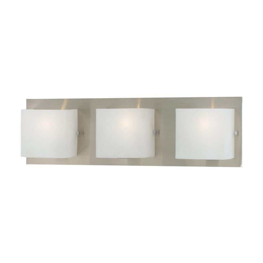 Eurofase Talo 3-Light 5.13-in Satin Nickel Square Vanity Light