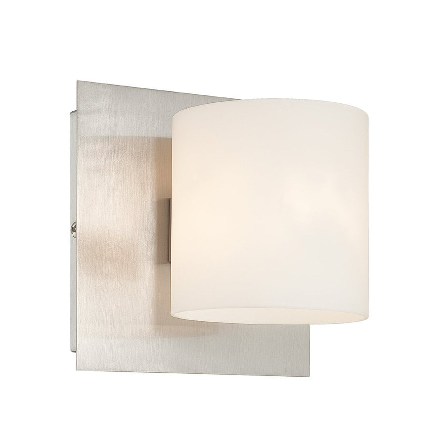 Eurofase Geos 5.5-in W 1-Light Satin Nickel Arm Hardwired Wall Sconce