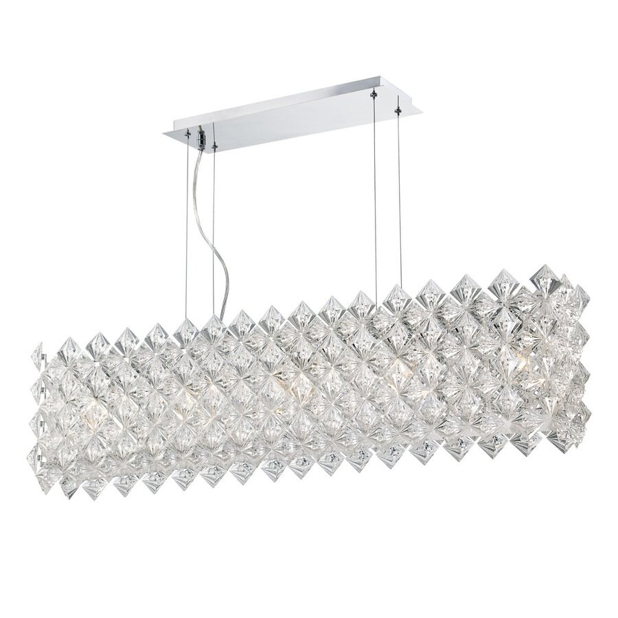 Eurofase Cristallo 7-in W 5-Light Chrome Kitchen Island Light with   Shade