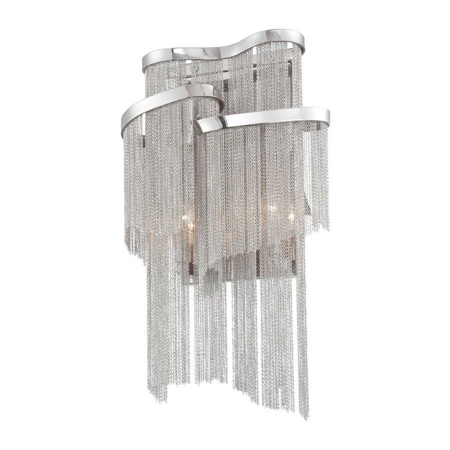 Eurofase Cadena 10-in W 1-Light Nickel Pocket Wall Sconce