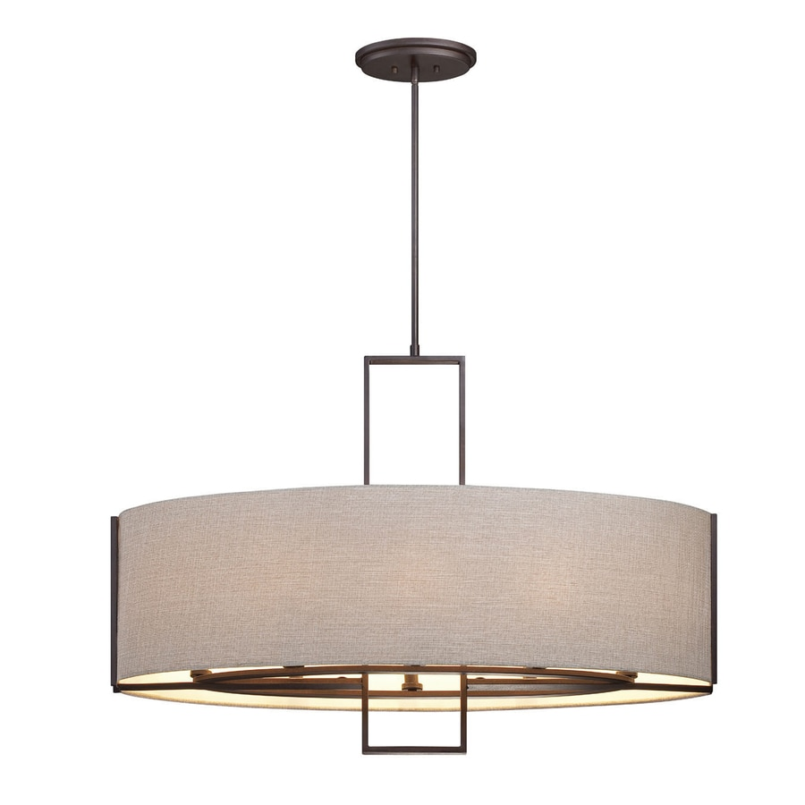 Eurofase Strada 12-in W 6-Light  Kitchen Island Light with  Shade