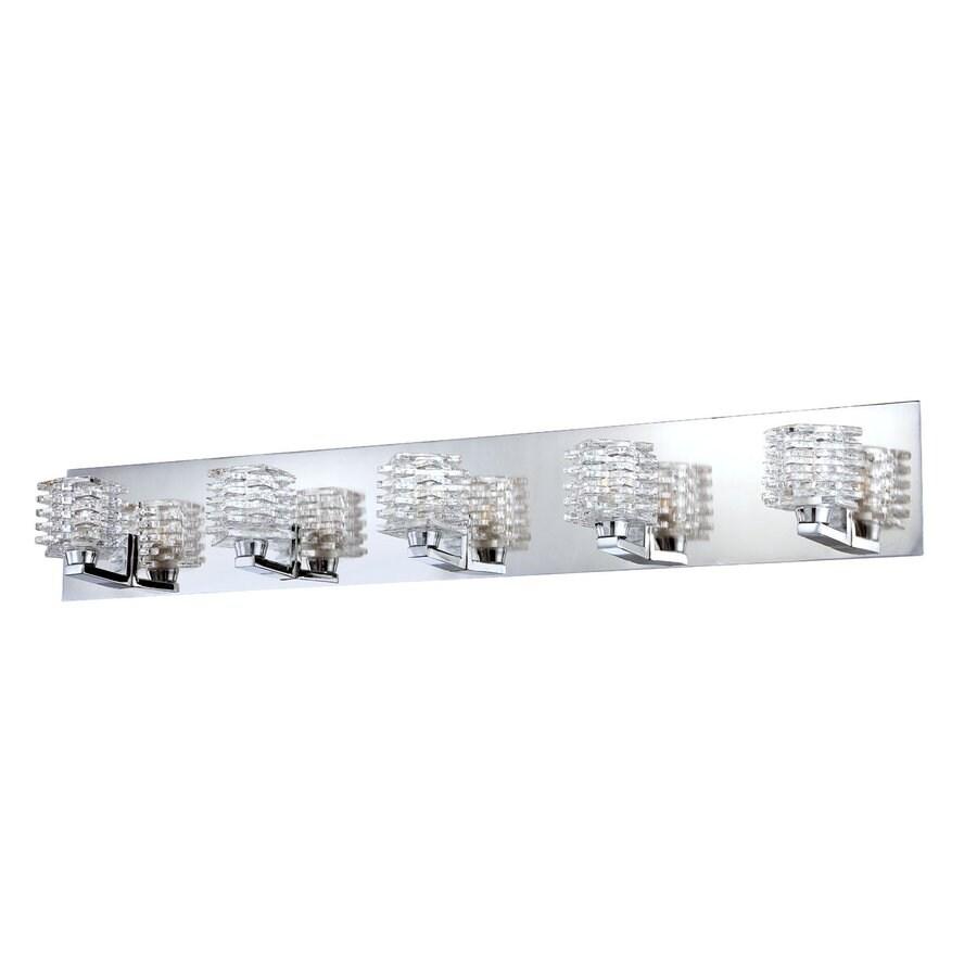 Eurofase Lenza 5-Light 5-in Chrome Vanity Light