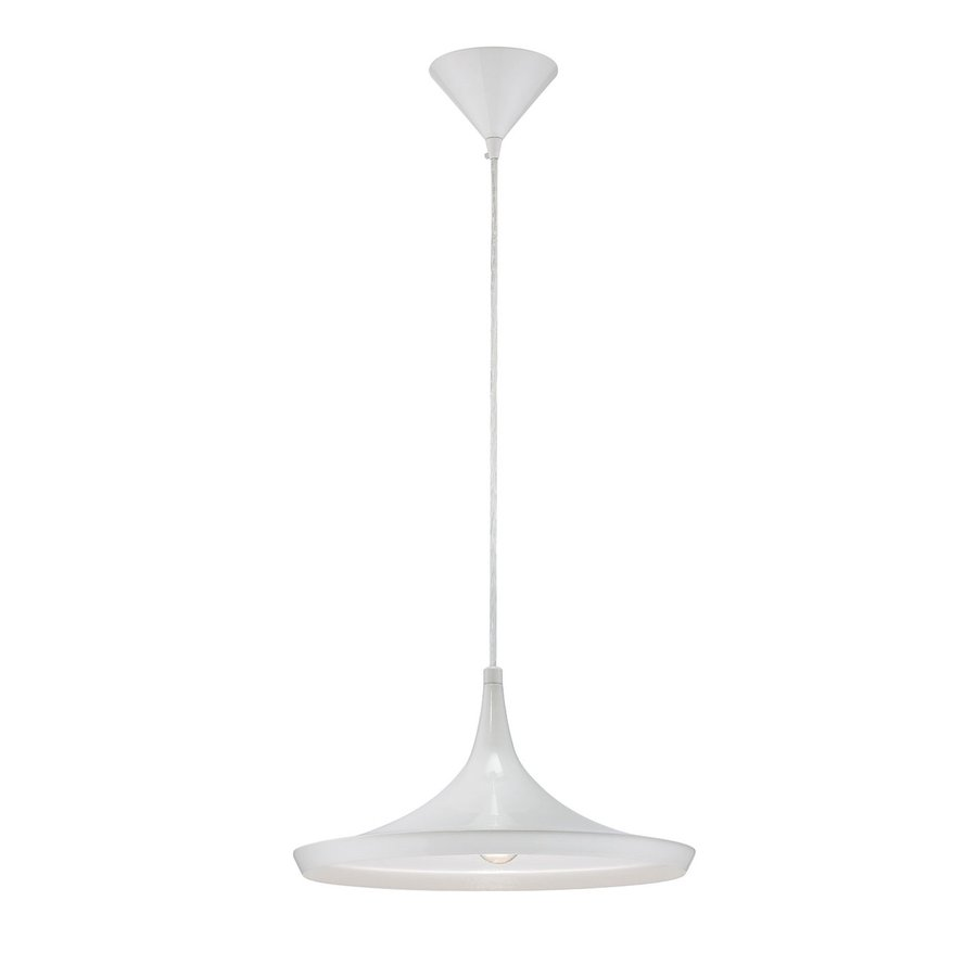 Eurofase Ramos 14-in White Industrial Warehouse Pendant