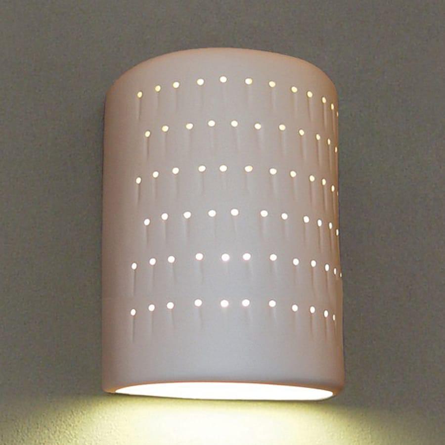 Ameritec Lighting Half Cylinder 8.75-in H Paintable Bisque Dark Sky Medium Base (E-26) Outdoor Wall Light