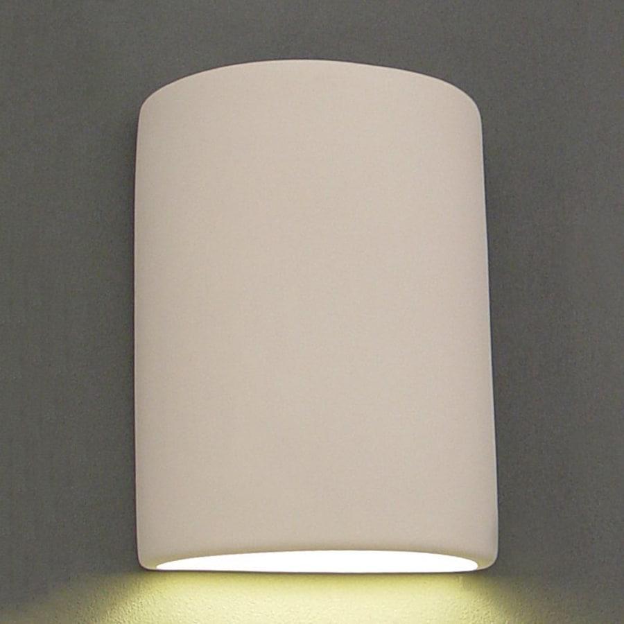 Ameritec Lighting Half Cylinder 12-in H Paintable Bisque Dark Sky Outdoor Wall Light