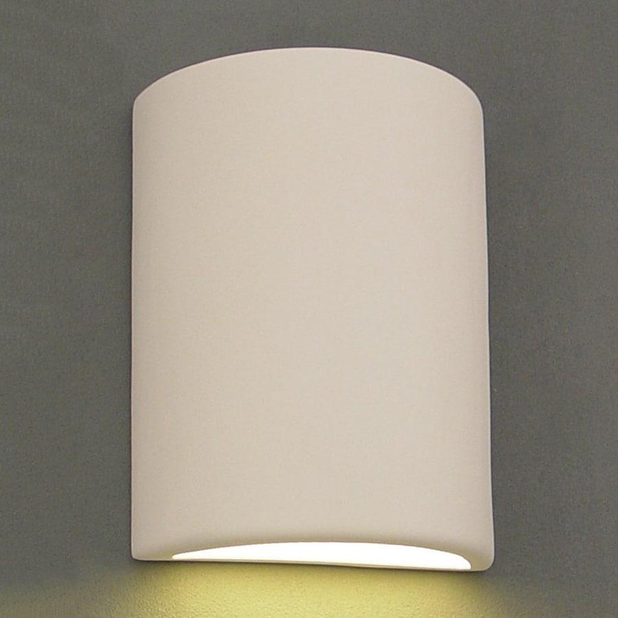 Ameritec Lighting Half Cylinder 13-in H Paintable Bisque Dark Sky Outdoor Wall Light