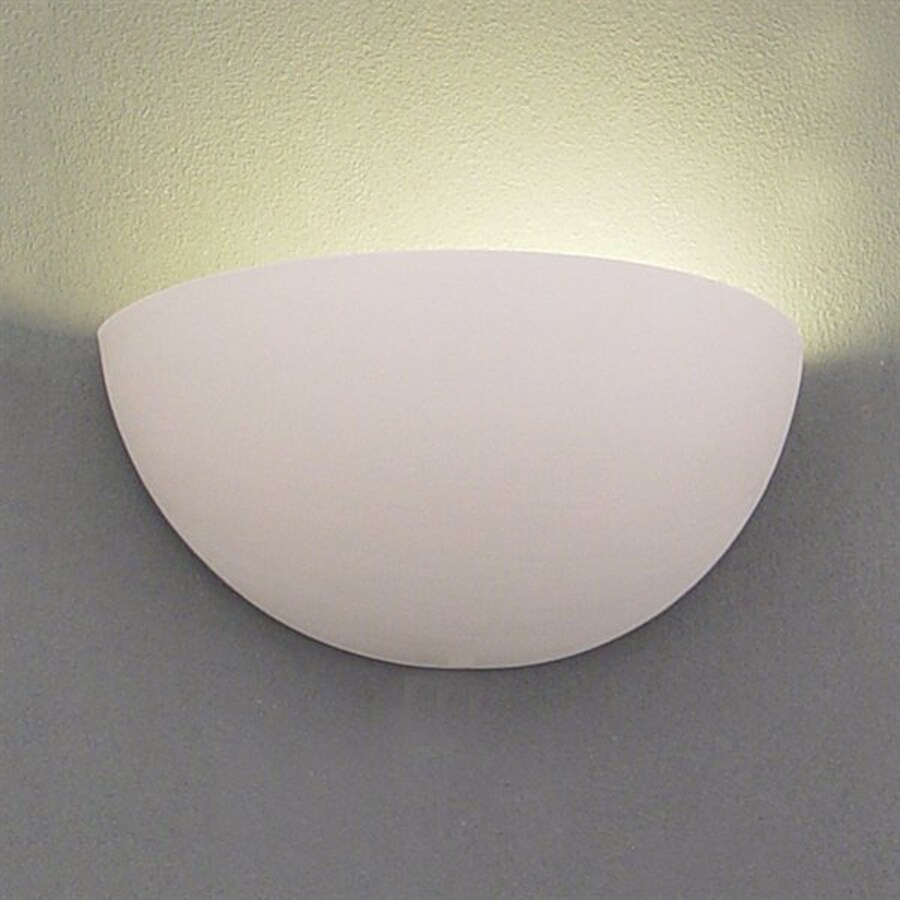 Ameritec Lighting Quarter Sphere 11-in W 1-Light Paintable Bisque Pocket Hardwired Wall Sconce