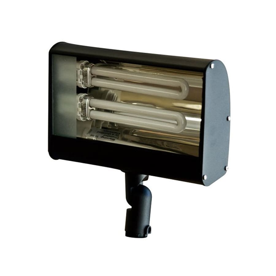 Dabmar Lighting 3.5-in 2-Head Fluorescent Black Switch-Controlled Flood Light