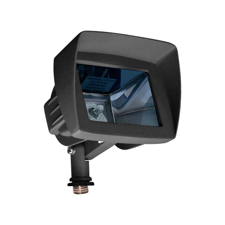 Dabmar Lighting 5.5-in 1-Head Halogen Black Switch-Controlled Flood Light