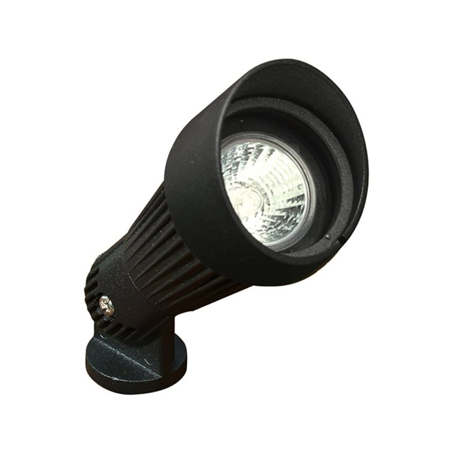 Dabmar Lighting 20-Watt (W Equivalent) Black Low Voltage Plug-in Halogen Spot Light