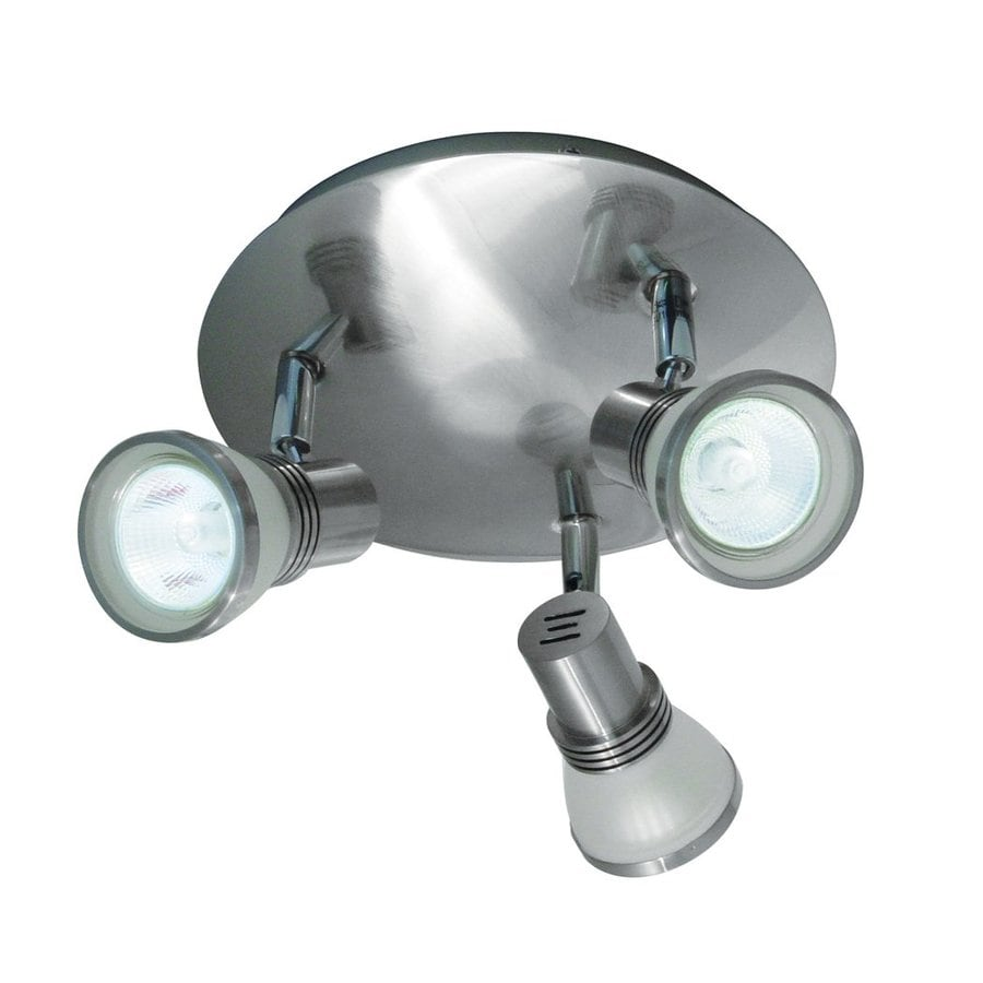 BAZZ Accent 8.5-in W Brushed chrome Metal Semi-Flush Mount Light