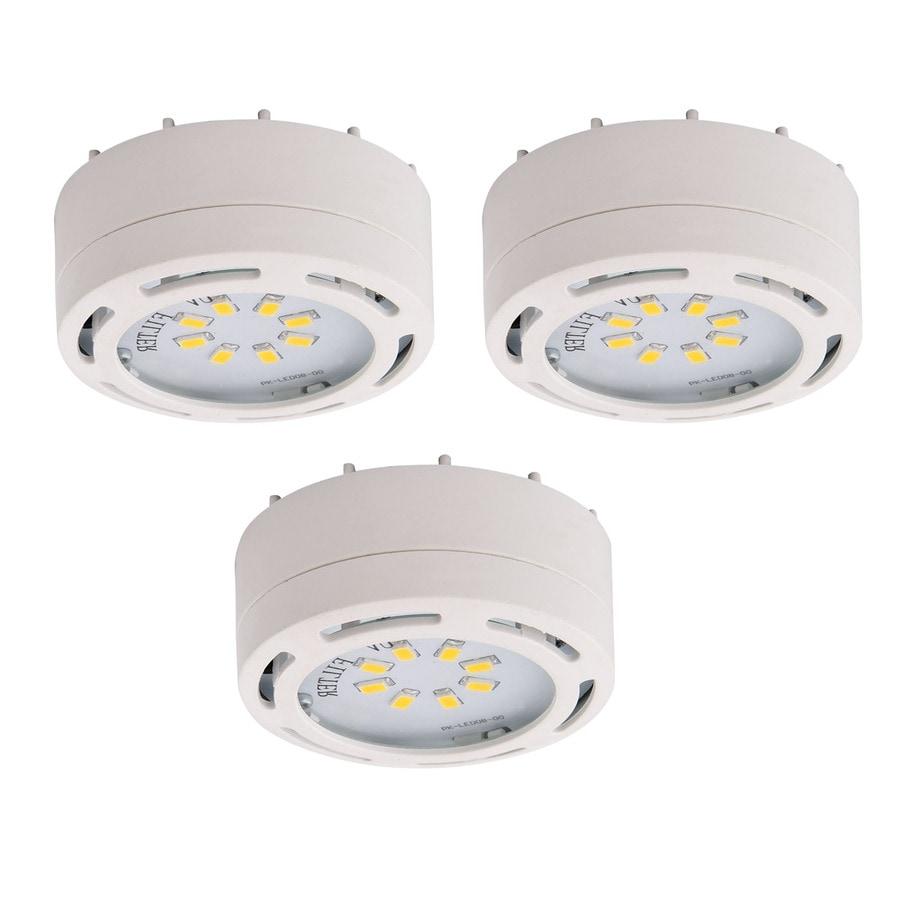 shop amax lighting 3 pack 2 625 in plug in under cabinet led puck