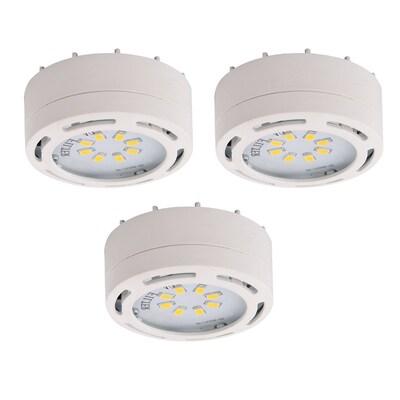 Amax Lighting 3 Pack 2 625 In Plug Under Cabinet Led Puck