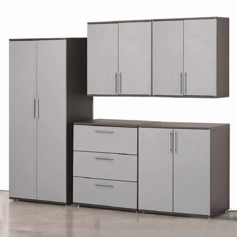 garage cabinets lowes shop stack on 72 in h x 92 in w x 18 in d metal garage 15706