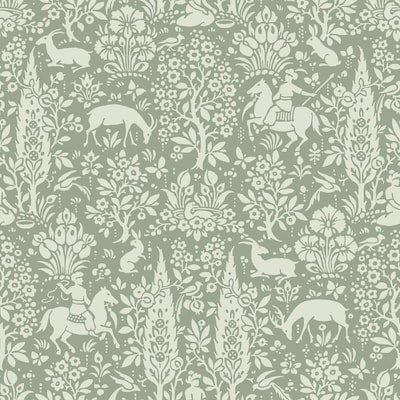 Crown Cwv 56 4 Sq Ft Sage Paper Ivy Vines Unpasted Paste The