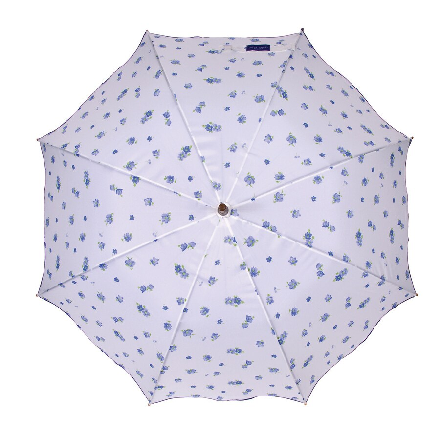 Laura Ashley Garden 2-ft 1-in x 2-ft 1-in Sapphire Round Patio Umbrella