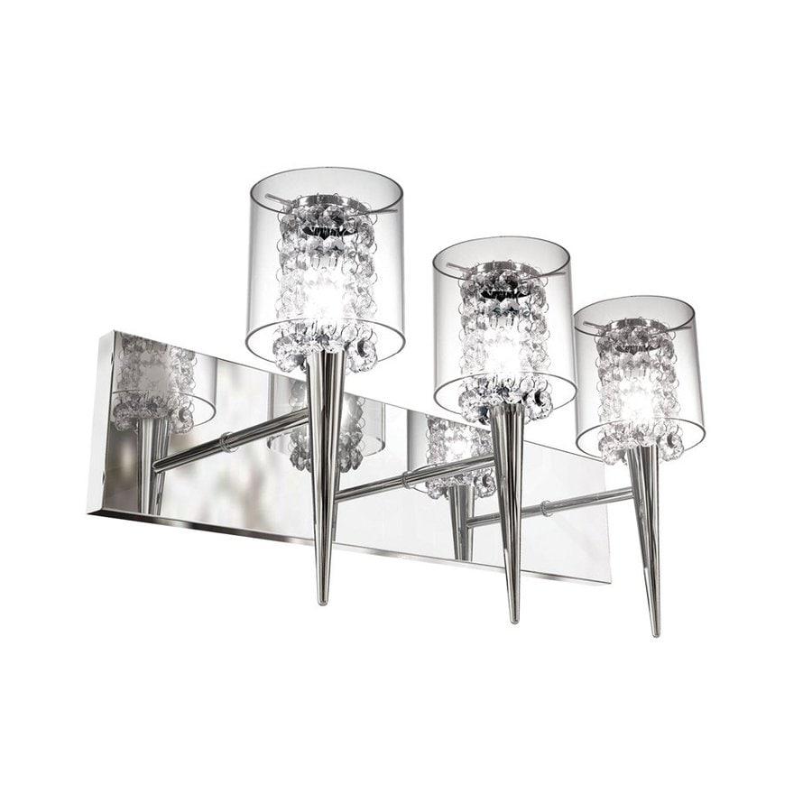 BAZZ Glam 3-Light 10.25-in Chrome Cylinder Vanity Light