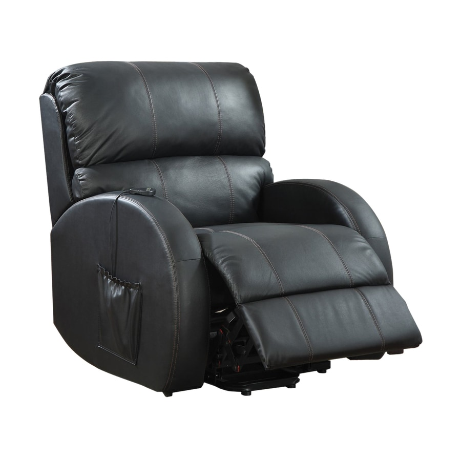 Coaster Fine Furniture Black Leather Recliner  sc 1 st  Loweu0027s & Shop Coaster Fine Furniture Black Leather Recliner at Lowes.com islam-shia.org