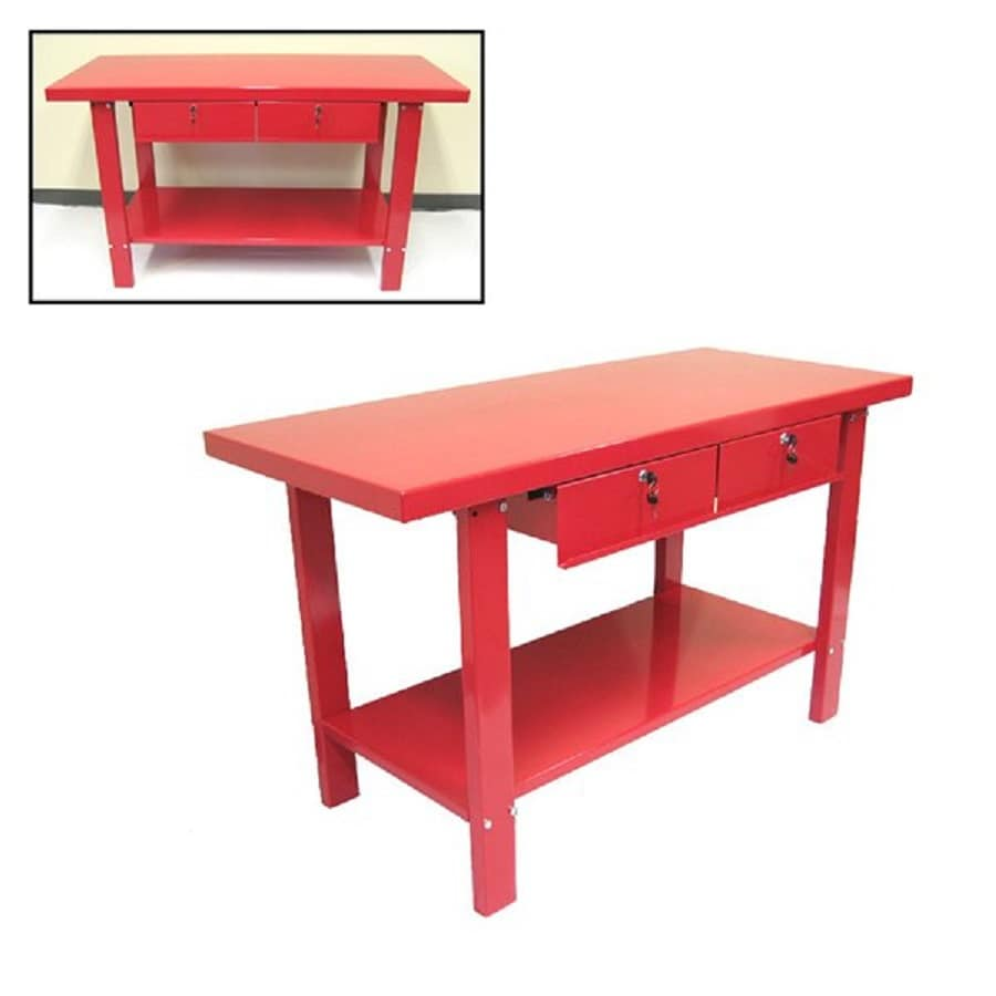 Shop Excel 59 In W X 34 In H 2 Drawer Steel Work Bench At