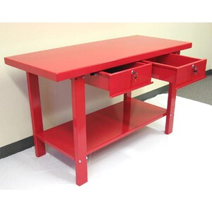 Magnificent Excel 59 In W X 34 In H 2 Drawer Steel Work Bench At Lowes Com Beatyapartments Chair Design Images Beatyapartmentscom