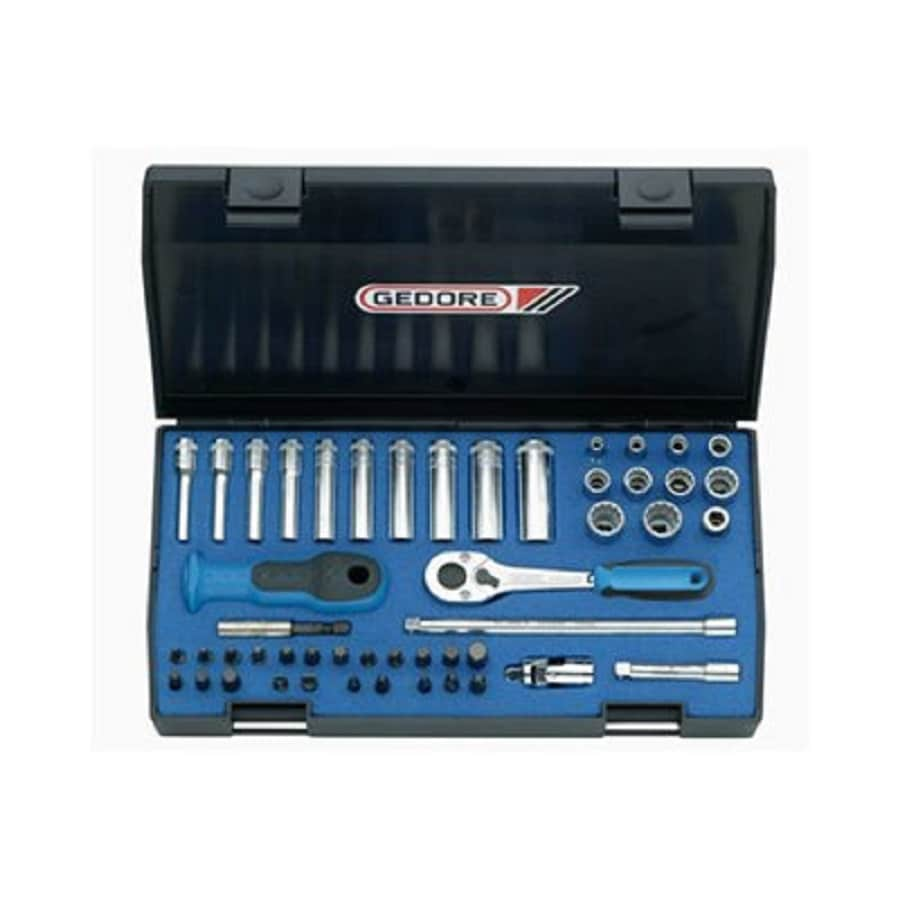 Gedore 49-Piece Metric 1/4-in Drive Socket Set with Case