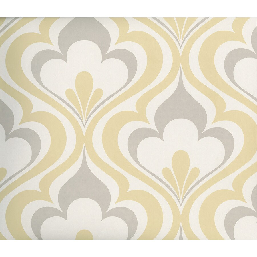 Brewster Wallcovering Yellow Non-Woven Flamestitch Wallpaper